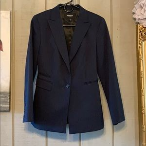 Express suit navy pinstripes